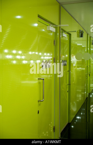 Second Floor Restaurant, Bar and Brasserie, Harvey Nichols, Manchester, 2003.  Restrooms. - Stock Photo