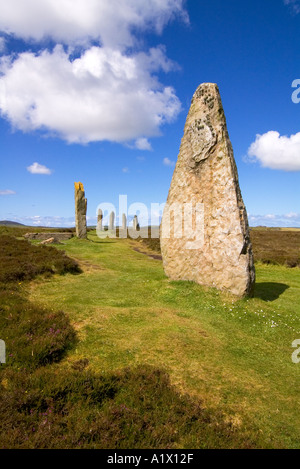 dh  RING OF BRODGAR ORKNEY Neolithic standing stones circle - Stock Photo