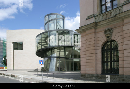 German Historical Museum DHM and extension by Leoh Ming Pei in in Berlin Germany - Stock Photo
