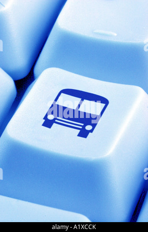 key with a bus - Stock Photo
