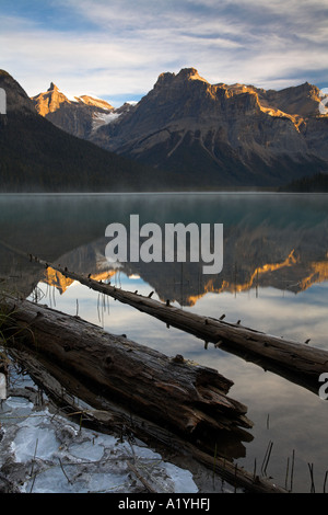 Sunrise at Emerald Lake in Yoho National Park, Canada - Stock Photo