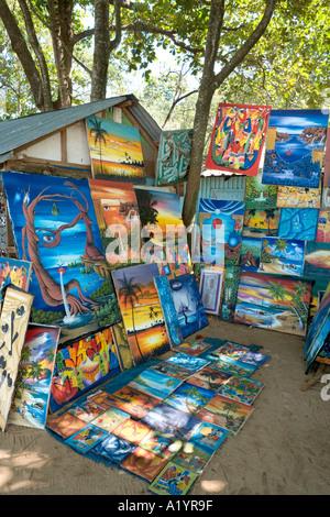 Local art for sale at the beach market, Sosua, Puerto Plata, North Coast, Dominican Republic