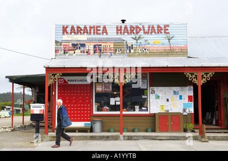 Karamea Hardware Shop Karamea West Coast South Island New Zealand - Stock Photo