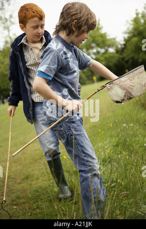 Boys Fishing - Stock Photo