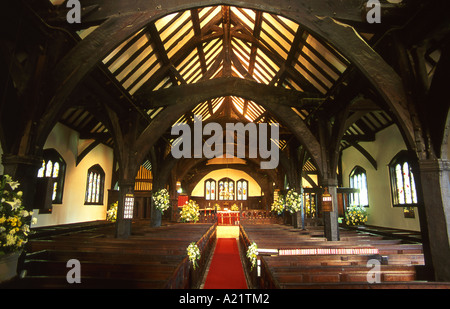 Interior of St Oswalds Parish Church, Lower Peover, Near Knutsford, Cheshire, England, UK - Stock Photo