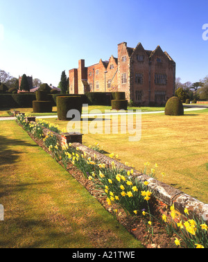 Peover Hall in Spring, Over Peover, Near Knutsford, Cheshire, England, UK - Stock Photo
