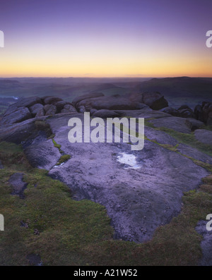 On Top of Curbar Edge Peak District National Park Derbyshire - Stock Photo