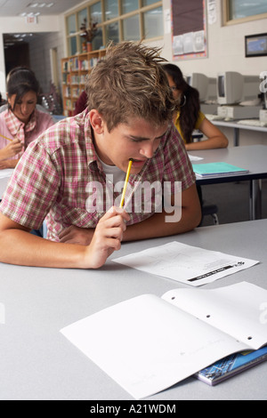 Students Taking Test - Stock Photo