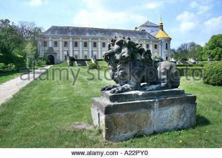 Baroque Castle Castle Garden Lysa nad Labem - Stock Photo