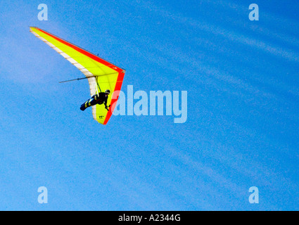 Hand Gliding over Sleepy Bear Sand Dunes - Stock Photo