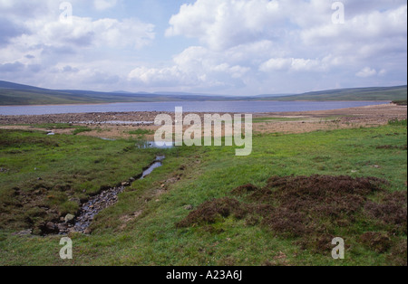 Cow Green reservoir Upper Teesdale, County Durham, England - Stock Photo