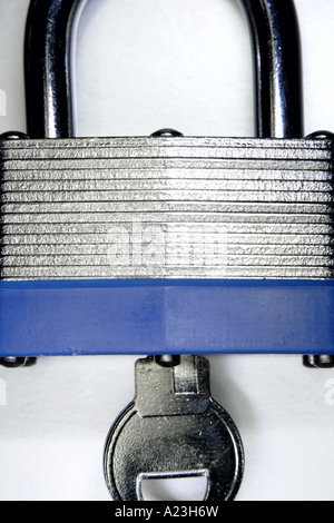 Padlock and key - Stock Photo