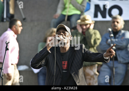 The singer Maxi Jazz from the pop group Faithless - Stock Photo
