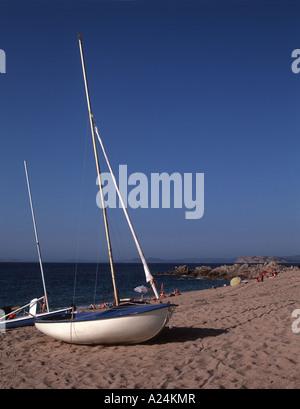 The beach at Vignola Mare Sardinia - Stock Photo