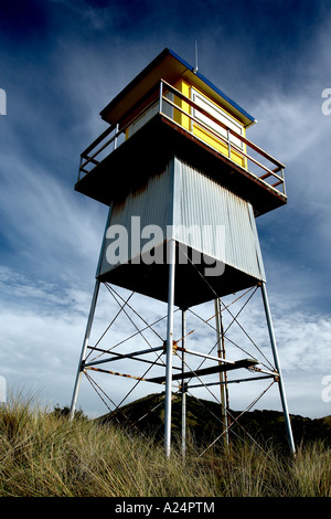 remote life guard station shut up for winter - Stock Photo