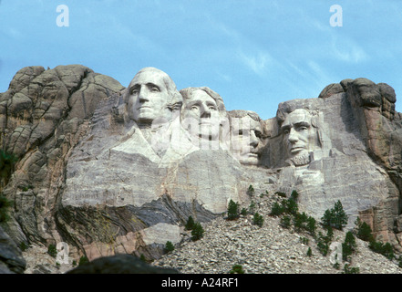 Mount Rushmore National Memorial located outside of Rapid City South Dakota - Stock Photo