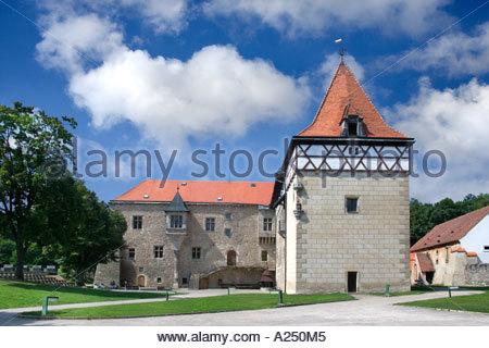 Czech Republic Budyne nad Ohri Renaissance Castle - Stock Photo