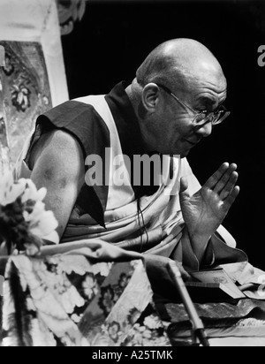 His Holiness THE 14TH DALAI LAMA of TIBET gives BUDDHIST TEACHINGS in Los Angeles California in 2000 - Stock Photo