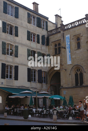 Characteristic View of Backstreet of Bayonne City Centre Aquitaine Southwest France Europe - Stock Photo