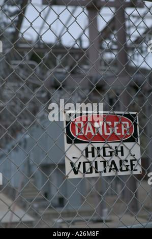 High Voltage Hazard High Voltage Danger Sign Electrical