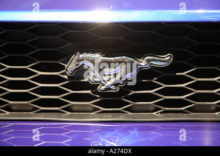 Ford Mustang logo - Stock Photo