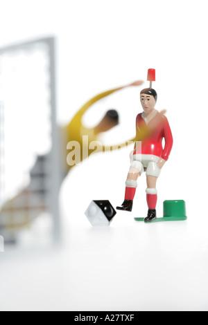 DEU Germany Tipp Kick Football Soccer Table game - Stock Photo