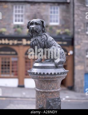 'Greyfriar's Bobby' dog statue, Edinburgh, Lothian, Scotland, United Kingdom - Stock Photo