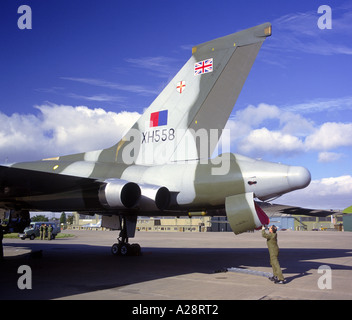 Avro Vulcan Bomber XH588  Restored and Flying in Civilian Service once more.   GAVM 2065-214 - Stock Photo