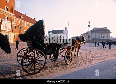 Castle Square, Warsaw, Poland - Stock Photo