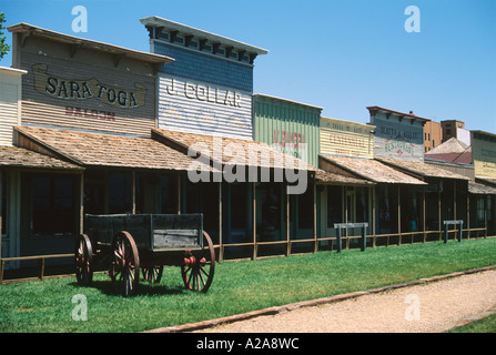 Front Street in Dodge City, Kansas. - Stock Photo