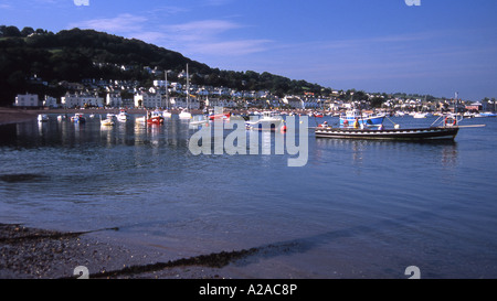 Small craft on the estuary of the River Teign at Teignmouth, South Devon. - Stock Photo