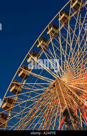 Ferris wheel at the annual christmas market in Nice France - Stock Photo