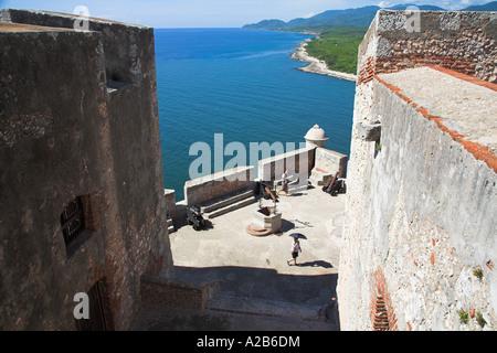 Castillo del Morro, San Pedro de la Roca, Morro Castle, Santiago Bay, Santiago de Cuba, Cuba - Stock Photo