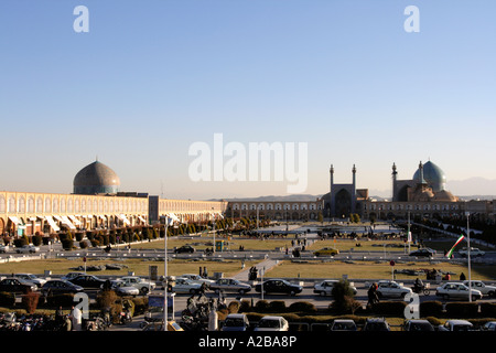 Naghsh-i Jahan Square in Isfahan, the 2nd largest in the world, Iran - Stock Photo