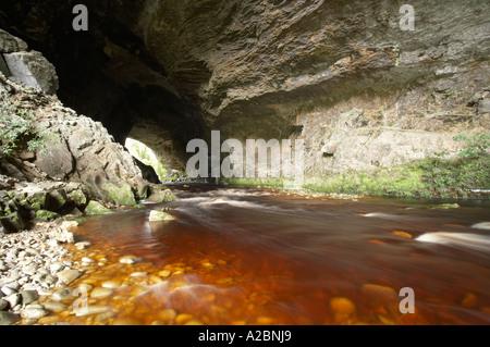 Oparara Arch Oparara Basin near Karamea Kahurangi National Park West Coast South Island New Zealand - Stock Photo
