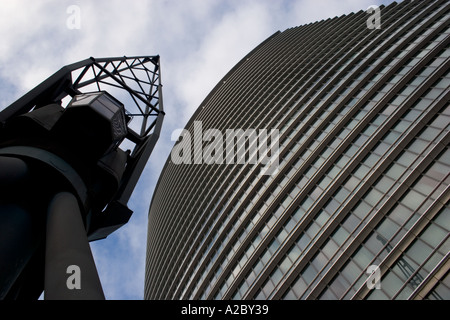 Old crane set against postmodern No 1 West India Quay high rise building  which was completedOld quay crane West India Docks London Stock Photo  Royalty Free  . Post Modern Buildings In India. Home Design Ideas