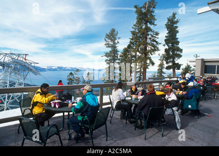 Top of Tram Restaurant, Aerial Tramway, Heavenly Ski Area, Lake Tahoe, California/Nevada, USA - Stock Photo