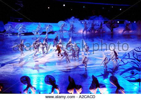 Child of Light Salt Lake City USA Winter Olympics Opening Ceremony 2002, Rice Eccles Stadium - Stock Photo