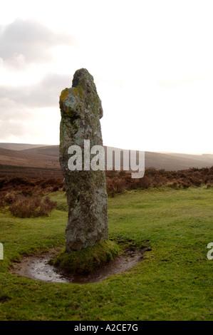 Bennets Stone Cross between Moretonhampstead & Two Bridges, Dartmoor.  XPL 4313-407 - Stock Photo