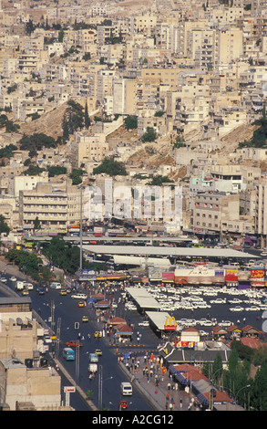 Traffic and bus station in downtown Amman the capitol of Jordan Middle East eye35.com - Stock Photo