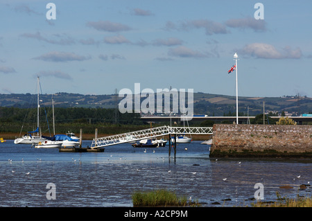 Low tide on the Exe Estuary near Topsham in Devon - Stock Photo
