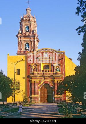 Santa Maria Church Tonantzintla Puebla State Mexico - Stock Photo