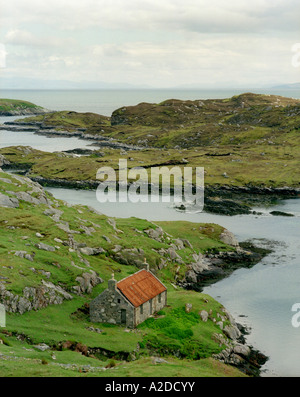 Old House by the shore, Isle of Harris, Western Isles, Scotland - Stock Photo
