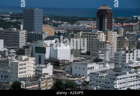 Port Louis and the Jummah Mosque Mauritius - Stock Photo