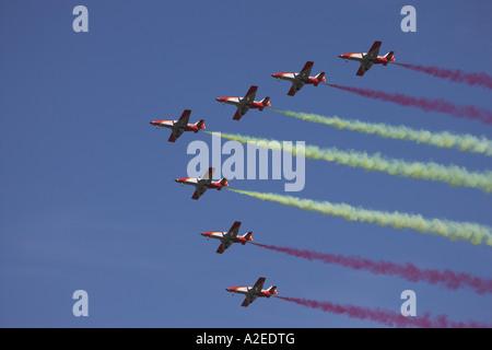 The Patrulla Aguila, Spanish Air Force Aerobatic Team, RIAT, England, UK - Stock Photo