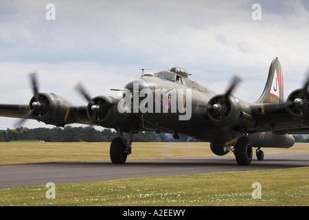 B-17G Flying Fortress 'Pink Lady', Duxford, Cambridgeshire, England, UK - Stock Photo