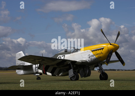 P-51D Mustang 'Ferocious Frankie', Duxford, England, UK - Stock Photo