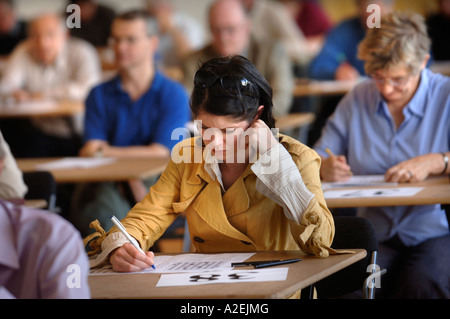 A YOUNG FEMALE CONTESTANT AT THE TIMES NATIONAL CROSSWORD COMPETITION CUP DURING THE CHAMPIONSHIPS IN CHELTENHAM UK 2006