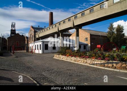 dh Scottish Mining Museum NEWTONGRANGE LOTHIAN Entrance buildings colliery gate coal mine historical scotland