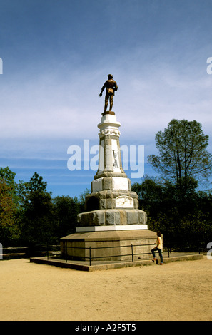 California Gold Country James Marshall statue at Coloma Gold Discovery site - Stock Photo